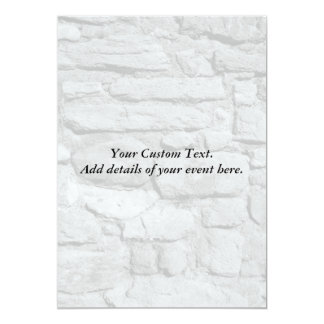 Stone Wall. Black and white. 13 Cm X 18 Cm Invitation Card