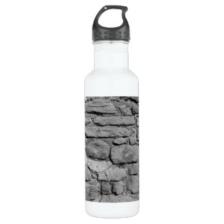 Stone Wall. Black and white. 710 Ml Water Bottle