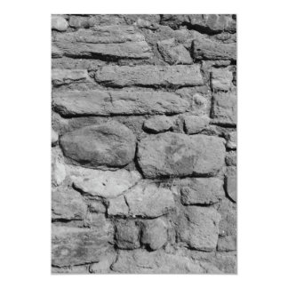Stone Wall. Black and white. Custom Announcements