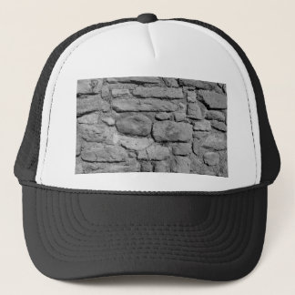 Stone Wall. Black and white. Trucker Hat