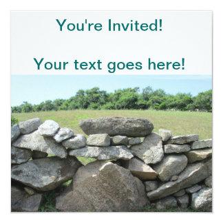 Stone Wall Block Island 13 Cm X 13 Cm Square Invitation Card