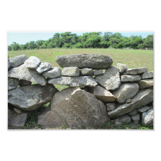 Stone Wall Block Island Photo Print
