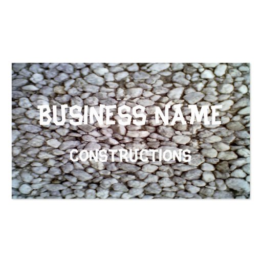 Stone wall business cards