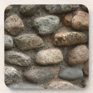 Stone wall beverage coasters