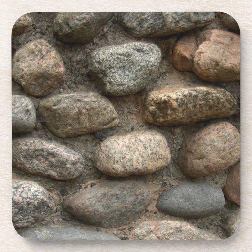 Stone wall beverage coasters