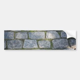 Stone wall design bumper sticker