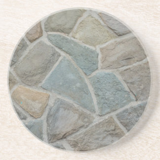 Stone wall design drink coasters