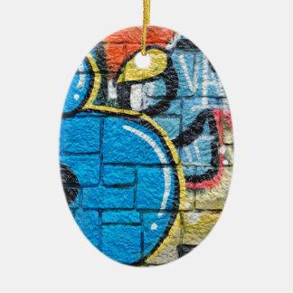 stone wall graffiti christmas ornament