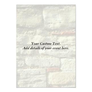 Stone Wall Image. 13 Cm X 18 Cm Invitation Card