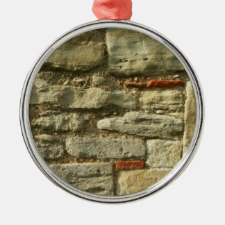 Stone Wall Image. Christmas Ornament
