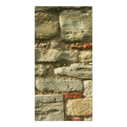 Stone Wall Image. Personalized Photo Card