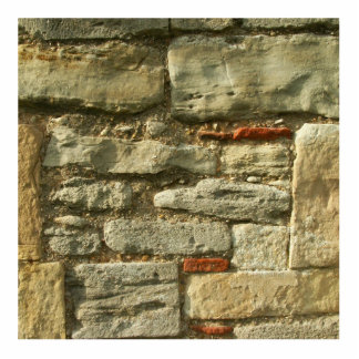 Stone Wall Image. Standing Photo Sculpture