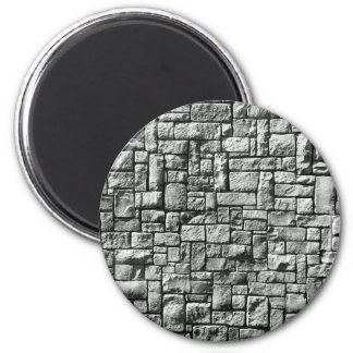 Stone Wall 6 Cm Round Magnet