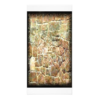 Stone wall pattern by Valxart.com Photo Card Template