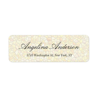 Stone Wall Pattern Elegant Handwriting Modern Return Address Label
