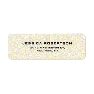 Stone Wall Plain Elegant Modern Trendy Return Address Label