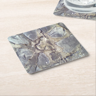 Stone wall square paper coaster