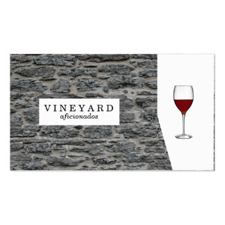 Stone Wall / Wine Glass Pack Of Standard Business Cards
