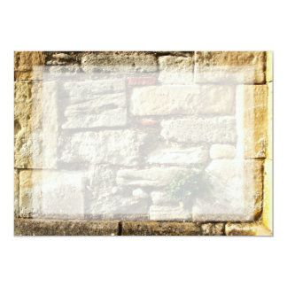 Stone Wall. With small plant. 13 Cm X 18 Cm Invitation Card