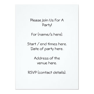 Stone Wall. With small plant. 6.5x8.75 Paper Invitation Card