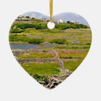 Stone Walls of Ireland Ceramic Heart Decoration
