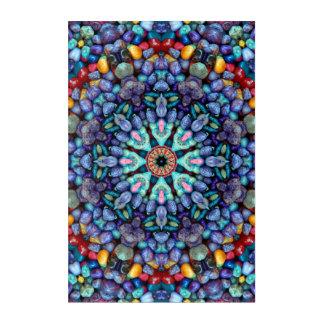 Stone Wonder Kaleidoscope  Acrylic Wall Art