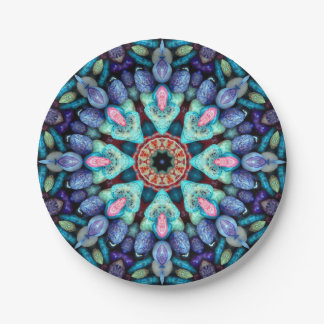 Stone Wonder Kaleidoscope   Paper Plates