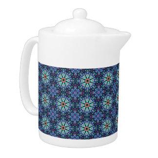 Stone Wonder  Kaleidoscope    Pattern  Teapots