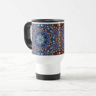 Stone Wonder Vintage Kaleidoscope Travel Mug