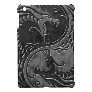 Stone Yin Yang Dragons iPad Mini Cover
