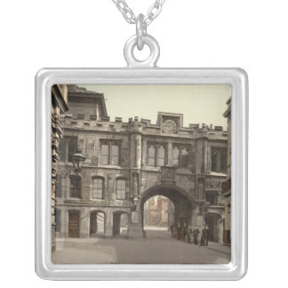 Stonebow, Lincoln, Lincolnshire, England Silver Plated Necklace