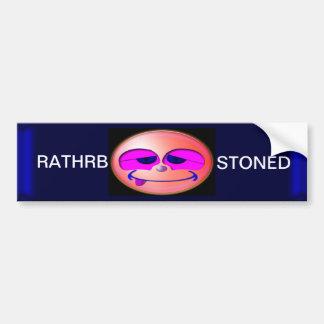 Stoned Car Bumper Sticker