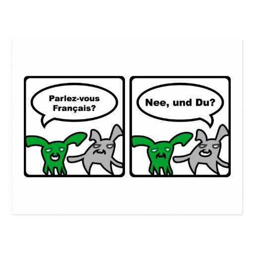 Stoned Bunnies – Parlez-vous Français? Nee,... Post Card