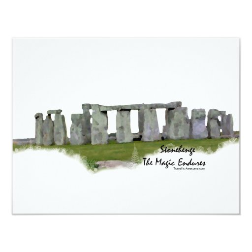 Stonehenge 11 Cm X 14 Cm Invitation Card