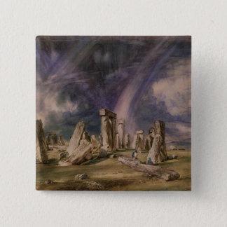 Stonehenge, 1835 15 cm square badge