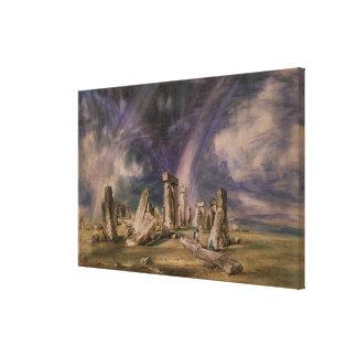 Stonehenge, 1835 canvas print