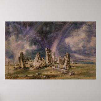 Stonehenge, 1835 poster
