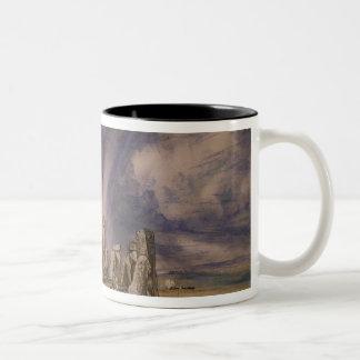 Stonehenge, 1835 Two-Tone coffee mug