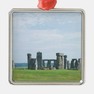 Stonehenge 2 Silver-Colored square decoration