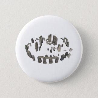 Stonehenge: 3D Model: 6 Cm Round Badge