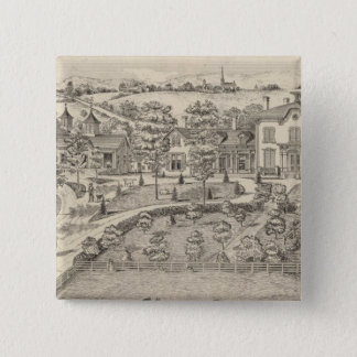 Stonehenge a residence and stock farm 15 cm square badge