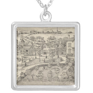 Stonehenge a residence and stock farm silver plated necklace