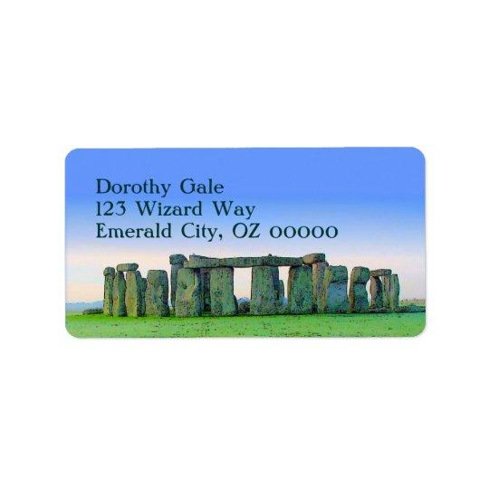 Stonehenge Address Label