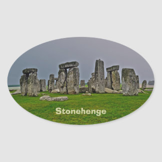 Stonehenge Ancient Historic Site of Power Oval Sticker