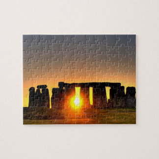 Stonehenge, ancient pre-history monument. jigsaw puzzle