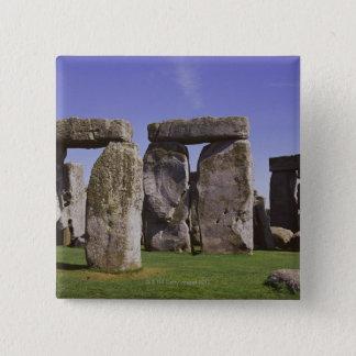 Stonehenge archaeological site, London, England 15 Cm Square Badge