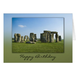 Stonehenge Birthday Card