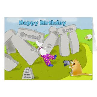 stonehenge birthday grandson greeting card