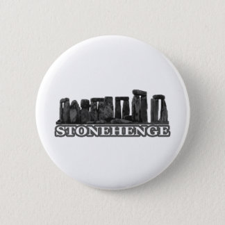 Stonehenge Black transp The MUSEUM Zazzle Gifts 6 Cm Round Badge