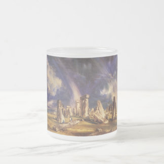 Stonehenge - by: John Constable Frosted Glass Coffee Mug